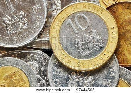 Close Up Picture Of Kenyan Shilling.