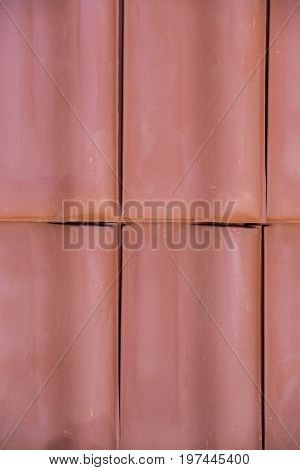 Closeup Of Clay Roof Tiles Background