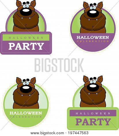 Cartoon Werewolf Halloween Graphic