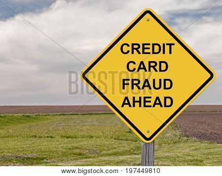 Caution Sign - Credit Card Fraud Ahead