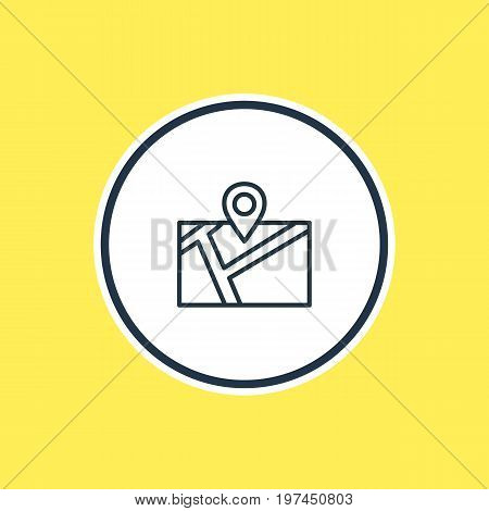 Beautiful Location Element Also Can Be Used As Pin Element.  Vector Illustration Of Location Outline.