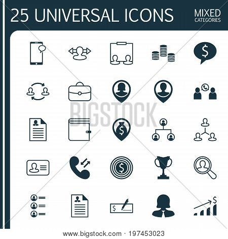 Hr Icons Set. Collection Of Deal, Presentation, Talking And Other Elements