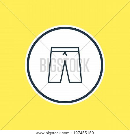Beautiful Clothes Element Also Can Be Used As Swimming Trunks Element.  Vector Illustration Of Shorts Outline.