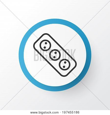 Premium Quality Isolated Extension Cord Element In Trendy Style.  Socket Icon Symbol.