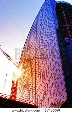 construction of skyscraper, engineering project