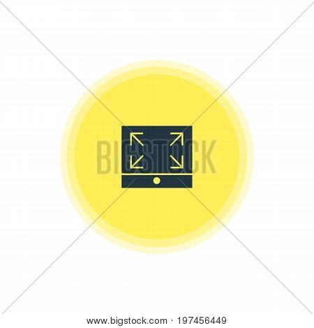 Beautiful Internet Element Also Can Be Used As Maximize Element.  Vector Illustration Of Full Screen Icon.