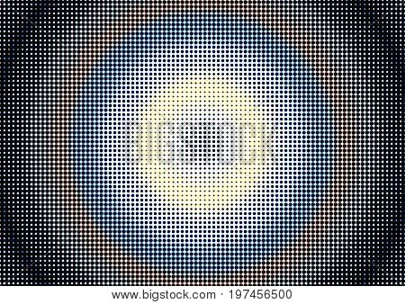 Abstract Dotted Colored Background In Newsprint Style With Circles