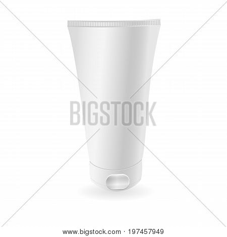White tube mock-up or ge . Ready For Your Design. Product Packing Vector EPS10.