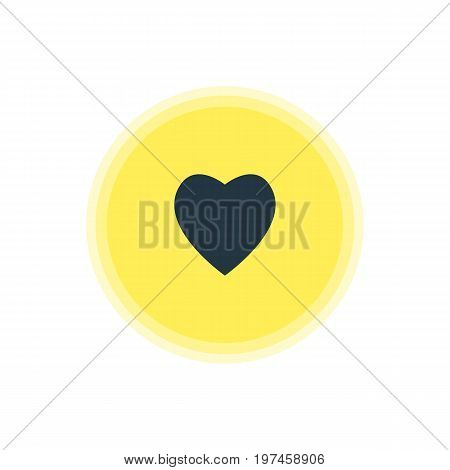 Beautiful Online Element Also Can Be Used As Love Element.  Vector Illustration Of Heart Icon.