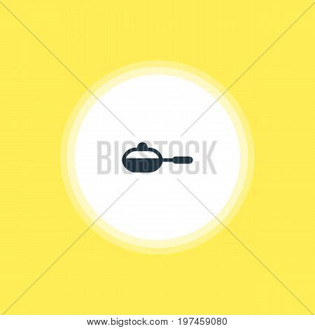 Beautiful Kitchenware Element Also Can Be Used As Pan Element.  Vector Illustration Of Skillet Icon.