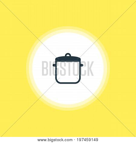 Beautiful Cooking Element Also Can Be Used As Soup Pan Element.  Vector Illustration Of Saucepan Icon.