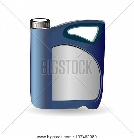Vector Blank Plastic Jerrycan Canister. Gallon for oil or gasoline