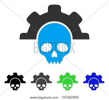 Dead Tools flat vector pictograph. Colored dead tools gray, black, blue, green pictogram versions. Flat icon style for application design.
