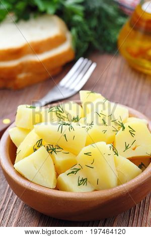 Boiled Potatoes With Dill And Oil