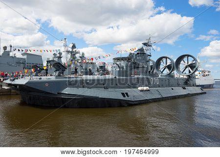RUSSIA, SAINT-PETERSBURG - JULY 02, 2017: A small amphibious assault ship