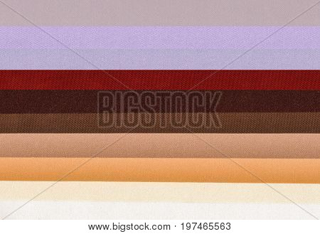 samples of colored polyester fabric texture background