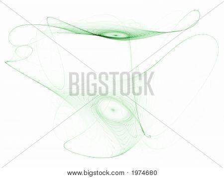 Optical Art Fractal Attractor Asymmetrical Smoke One Green