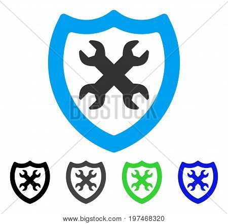 Security Configuration flat vector icon. Colored security configuration gray, black, blue, green icon variants. Flat icon style for graphic design.