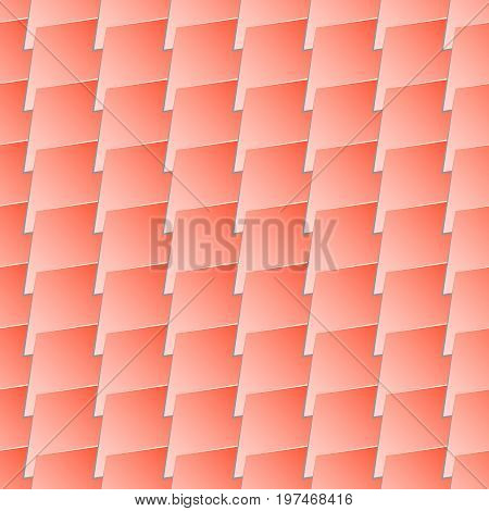 Seamless texture - tile. Seamless abstract background. Terracota roof tile - pattern for continuous replicate.