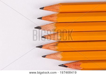 Simple pencils a blank sheet a template