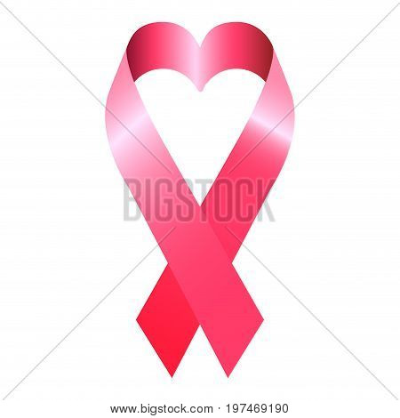 Isolated Pink Ribbon