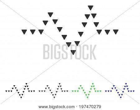 Dotted Pulse flat vector icon. Colored dotted pulse gray, black, blue, green pictogram versions. Flat icon style for web design.