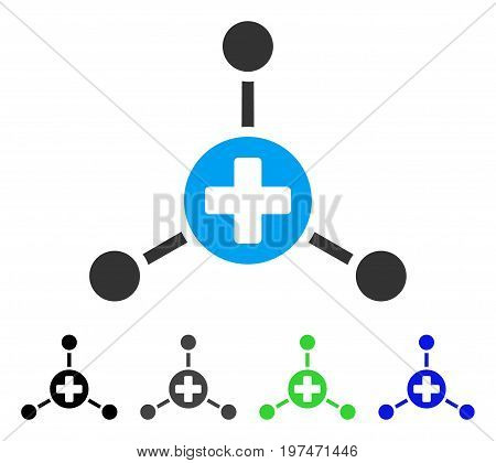 Medical Center flat vector pictogram. Colored medical center gray, black, blue, green pictogram versions. Flat icon style for web design.