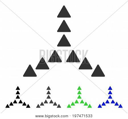 Outside Direction flat vector pictograph. Colored outside direction gray, black, blue, green icon variants. Flat icon style for web design.