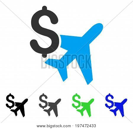 Aviation Business flat vector icon. Colored aviation business gray, black, blue, green icon variants. Flat icon style for graphic design.