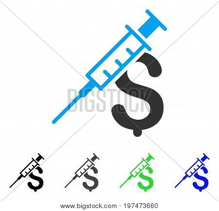Drug Business flat vector icon. Colored drug business gray, black, blue, green icon versions. Flat icon style for graphic design.