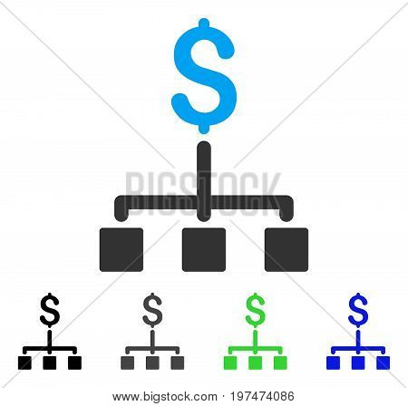 Financial Hierarchy flat vector icon. Colored financial hierarchy gray, black, blue, green icon versions. Flat icon style for application design.