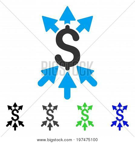 Payment Broker flat vector icon. Colored payment broker gray, black, blue, green pictogram versions. Flat icon style for web design.