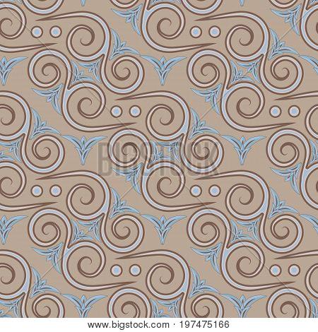Ethnic seamless pattern. Egyptian Greek Roman style. Vector illustration.