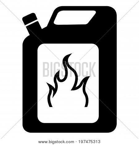 Isolated Bottle Of Flammable Gas