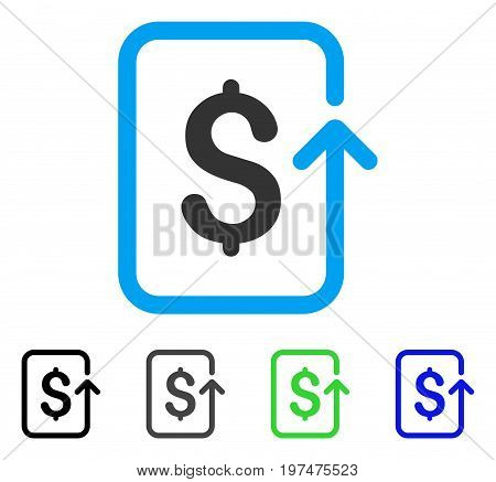 Reverse Transaction flat vector pictograph. Colored reverse transaction gray, black, blue, green icon variants. Flat icon style for web design.