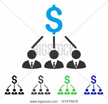 Shareholders flat vector icon. Colored shareholders gray, black, blue, green icon variants. Flat icon style for application design.