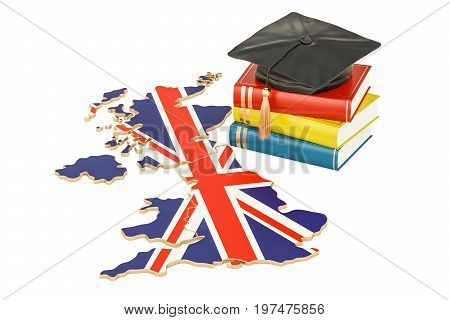 Education in Great Britain concept 3D rendering isolated on white background