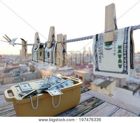 washing money concept background photo close up