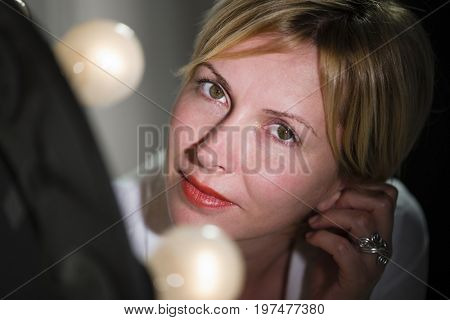 Forty years woman, beauty model