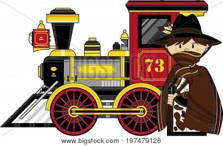 Masked Cowboy And Train.eps