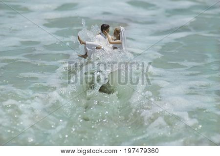 Bride and Groom Swept Away By Love