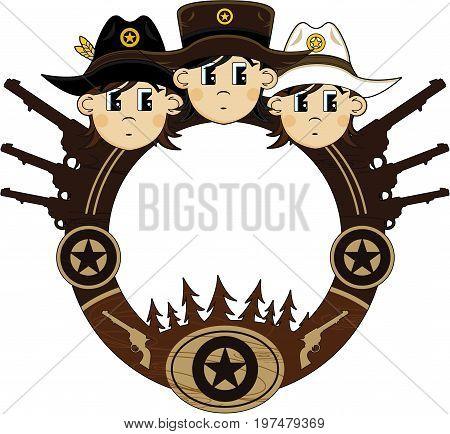 Cute Cowboys Frame.eps