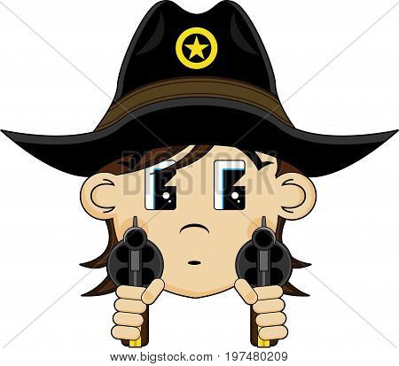 Cowboy With Pistols