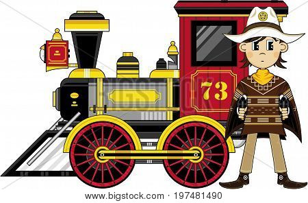 Cowboy Sheriff & Train.eps