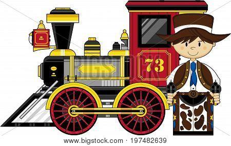 Cowboy And Train.eps