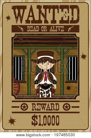 Cowboy Dead Or Alive Poster.eps