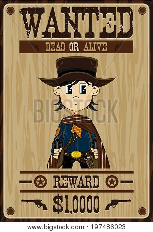 Cowboy Wanted Poster 1.eps