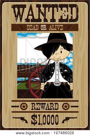 Cute Bandit Cowboy Poster