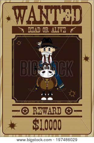 Cowboy & Horse Poster