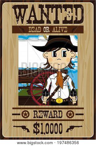 Cute Cowboy Bandit Poster.eps